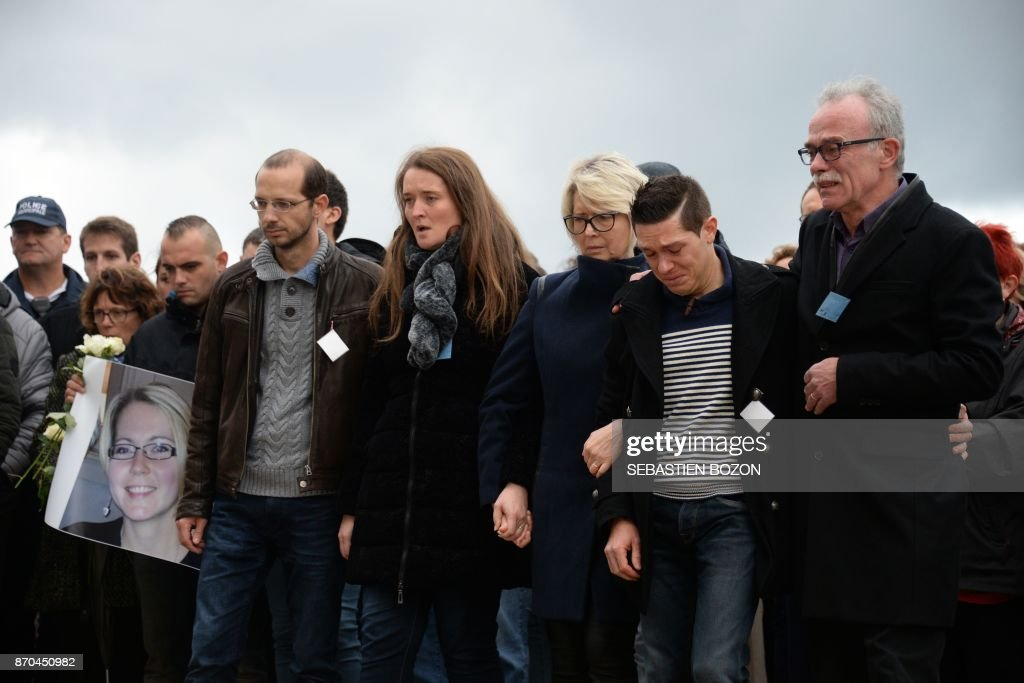 The relatives of murdered French woman Alexia Daval   From R  her     The relatives of murdered French woman Alexia Daval   From R  her father  Jean