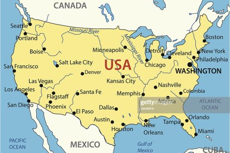 the united states of america vector map vector art | getty