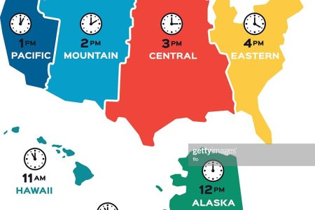 united states time zones flat design vector art   getty images