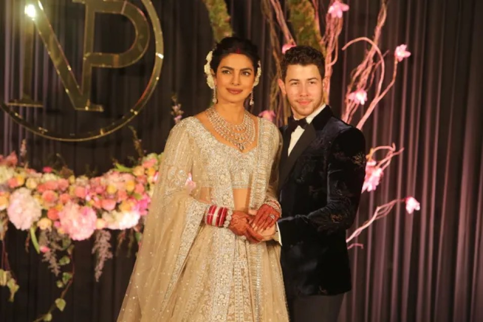 Image result for WEDDING PICS OF PRIYANKA CHOPRA