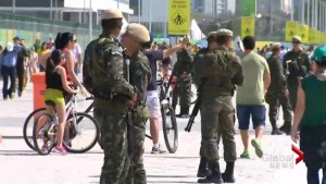 Security officers everywhere as Rio Olympics heats up