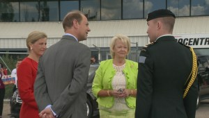 Earl and Countess of Wessex arrive in Regina