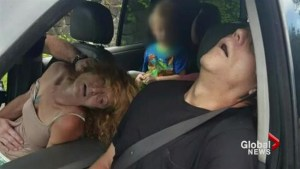 Did releasing photo of man and woman passed out with toddler go too far?