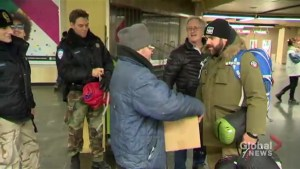 Sleeping bags for Montreal's homeless
