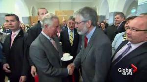 Prince Charles meets Sinn Fein leader Gerry Adams