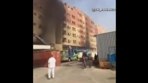 Raw video: Saudi housing complex engulfed with deadly fire