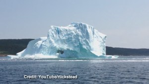Incredible iceberg collapse in Newfoundland