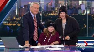 10-year-old girl with terminal cancer visits Global Edmonton
