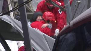 Rescuers pull small girl from rubble of collapsed building in Taiwan