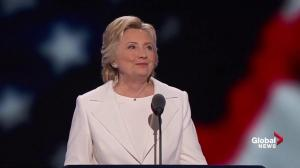 Hillary Clinton officially accepts nomination for the presidency of the United States