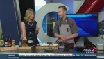 Chef Dave Phillips prepares ancho and coffee-crusted pork belly