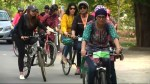 Pakistani feminists ride bikes to claim public space