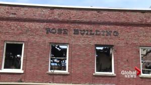 Historical building heavily damaged in Woodstock fire