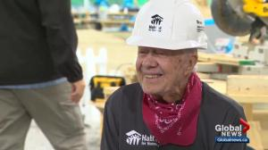 Interview with Jimmy Carter about massive Habitat for Humanity project in Edmonton