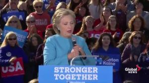 Hillary Clinton says Donald Trump's refusal to say whether he will accept election result 'horrified' her