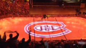 Pregame opening at Bruins/Canadiens playoff game