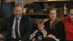 Federal Election 2015: NDP leader watches election results with family