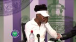 Venus Williams breaks down in Wimbledon news conference