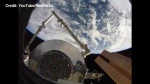 Incredible HD video of a cargo module being moved on the International Space Station