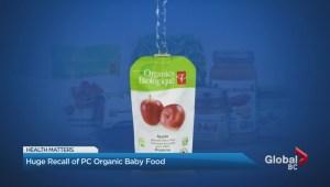 Organic Baby Food Recall