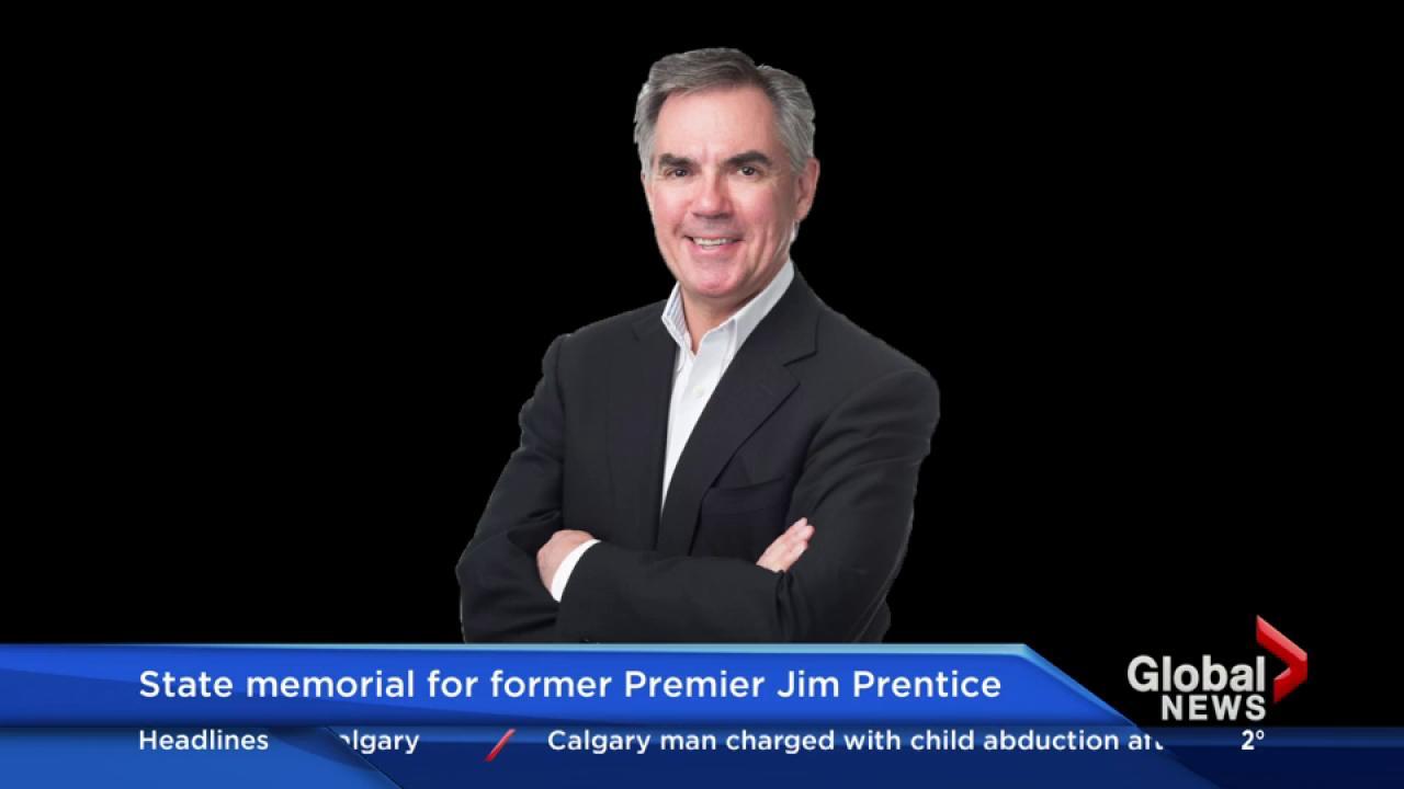 State memorial service for former Alberta premier Jim Prentice in Calgary
