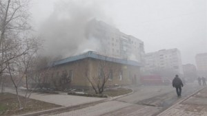 Aftermath footage of shelling by Ukraine rebels in Mariupol