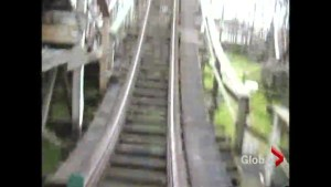 From the archives: Taking a ride on Playland's wooden roller coaster
