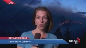 Forest fire burns near Lytton.