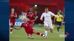 Canada women's FIFA team against England in World Cup quarter finals
