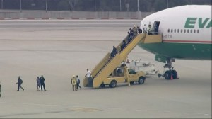 RAW: FBI investigating threat made to Eva Air flight at LAX