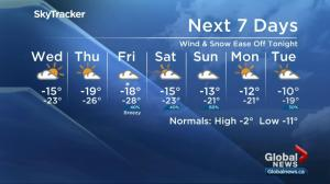 Blowing snow creating blizzard-like conditions in Saskatoon