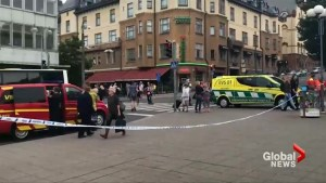 Police respond to scene of stabbing attack in Finnish city of Turku