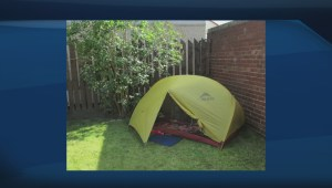 Student lives in tent to raise awareness about education affordability