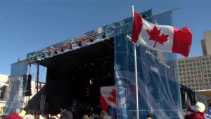 Ottawa holds celebration for Canadian flag 50th anniversary