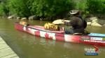 Man canoeing across Canada to mark 150th birthday makes a stop in Saskatoon