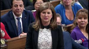 Rona Ambrose criticizes PM Trudeau's multimillion-dollar loan to Bombardier