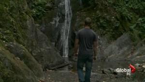 Man survives tumbling off B.C. waterfall