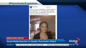 Social media reaction to deadly Manchester attack
