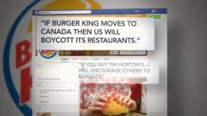 Anger on both sides of the border following news of Burger King/Tim Hortons merger