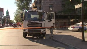 Cyclist in hospital after collision with city truck