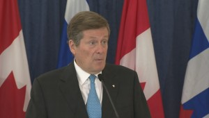 Mayor Tory speaks with media on possibility of road tolls