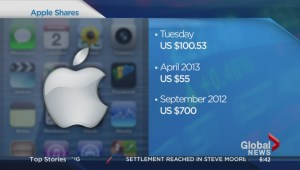Apple shares close at record high