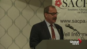 Interim PC Leader Ric McIver speaks at SACPA