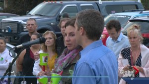 Vigil for missing family
