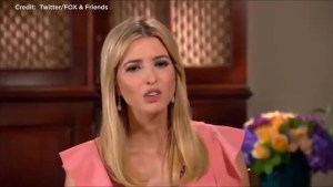 Ivanka Trump says she tries to stay out of politics