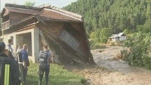 Romania submerged in deadly flood waters