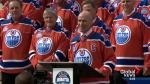 Edmonton Oilers alumni, fans gather for rally before saying farewell to Rexall Place