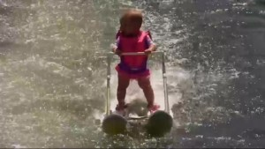 Six-month-old infant sets world record for youngest water-skiier