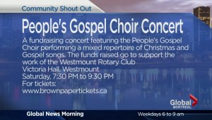 COMMUNITY EVENTS: People's Gospel Choir