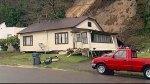 Mudslide knocks house off foundation